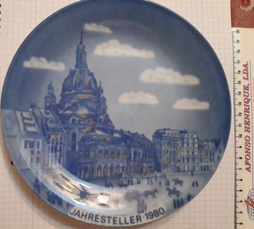 Prato Porcelana Decorativo Alemão 1980