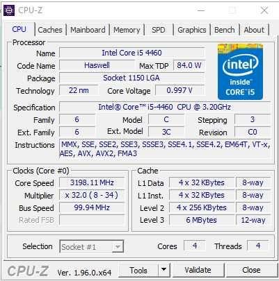 Vendo Processador i5 4460