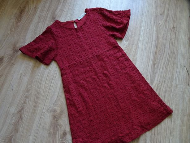 Zara koronkowa sukienka święta borowa 134/140