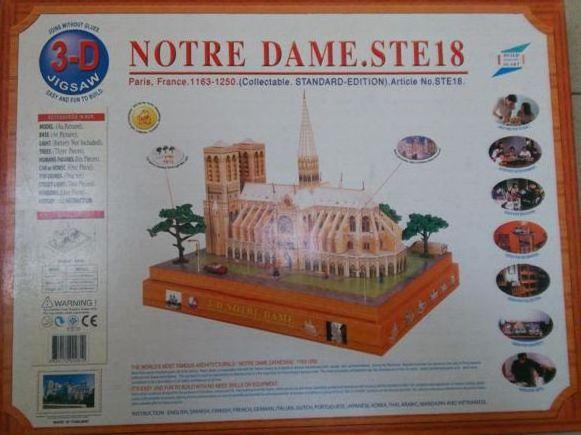 Notre Dame 3D Jigsaw Puzzle