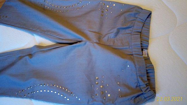 Laura Kent jasnoszare spodnie jegginsy z dżetami