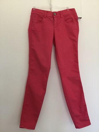 Spodnie Jeggingsy Benetton różowe 27