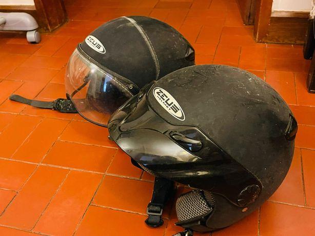 2 capacetes Zeus Helmet