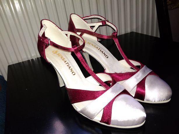 Nowe buty ślubne taneczne 40 Sensatiano cudowne