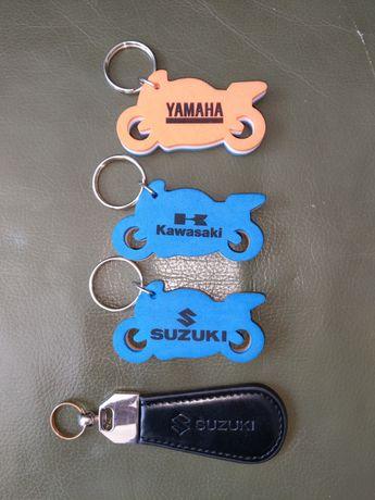 Breloki piankowe zawieszki emblematy Suzuki Yamaha Kawasaki