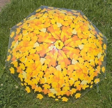 Nowoczesny Modne Plastikowy Laski Parasol Półautomatyczny z Wygiętą Rą