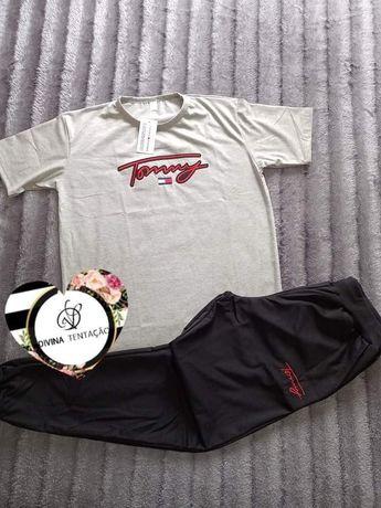 Conjuntos t-shirt com calças