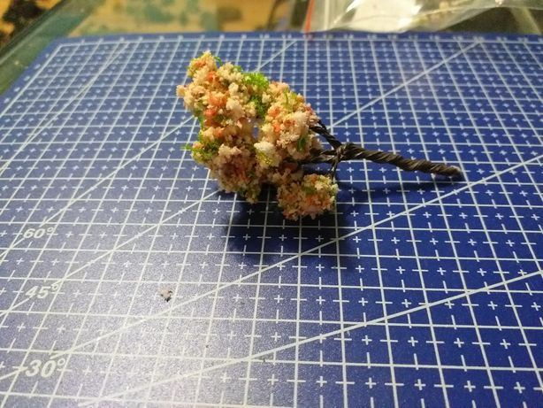 drzewka do makiety piko h0 tt n kwitnaca wiśnia 1:87 1:120 1:160