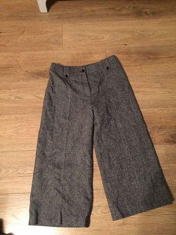 Spodnie grubsze kant rybaczki bialcon 40 welna