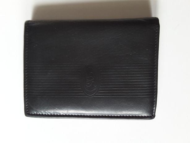 """Skórzany portfel męski czarny """" Derkon Style """""""