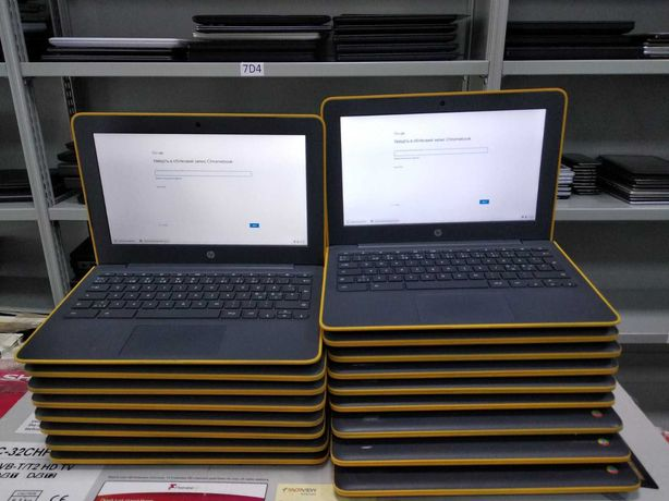 Ноутбук HP Chromebook для работы в браузере интернете ютуба школы учеб