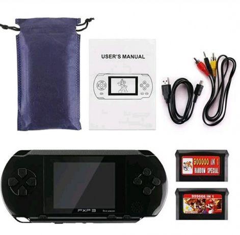 Consola portátil PXP 3 de 16 BIT com jogos da Mega Drive e Nintendo
