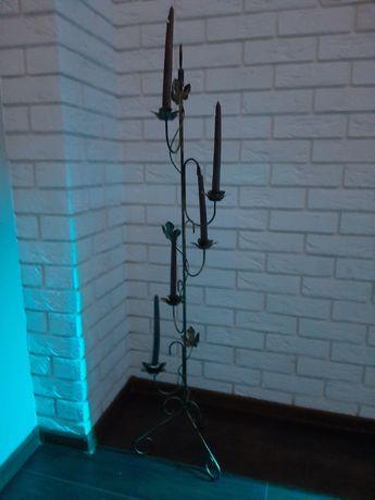 Świecznik kuty na 5 świec