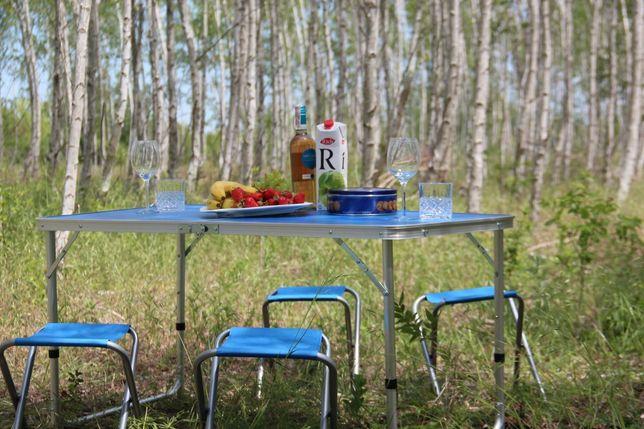 Стол раскладной для пикника +4 стульями