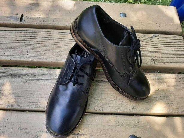Детские кожаные туфли для мальчика на шнурках friboo