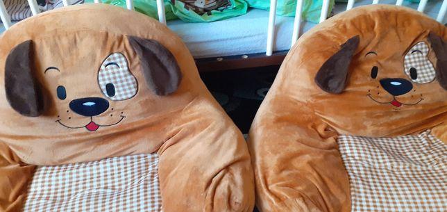 Pluszowe fotele Smyk ( dwie sztuki )