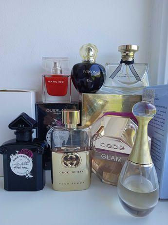 Dior, Guerlain, Gucci, Narciso Rodriguez, Bvlgari