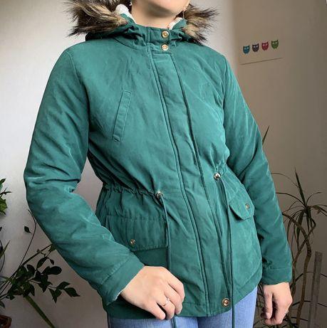 Новая парка демисезонная куртка зеленая осень