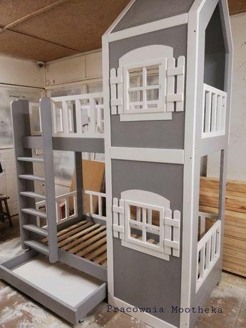 Łóżko piętrowe drewniane Scandic House