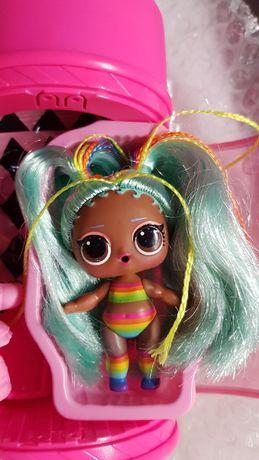 Куколка ЛОЛ. Оригинал МGA. Хаир Гоалс. С волосами. Радуга.