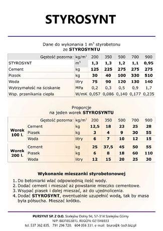 STYROSYNT - specjalnie spreparowane lekkie kruszywo budowlane