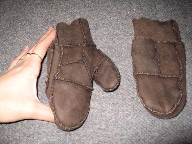 Шкіряні зимові рукавиці на натуральній овчині, 3-5 років, 50 грн.