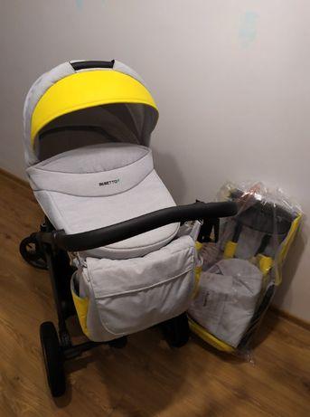 Wózek Bebetto Vulcano 2w1 gondola + nowa spacerówka
