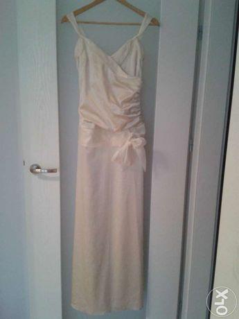 Sukienka złota ecru - na wesele