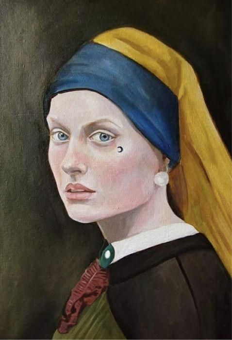 Живопись По мотивам «Девушка с жемчужной сережкой» Одесса - изображение 1