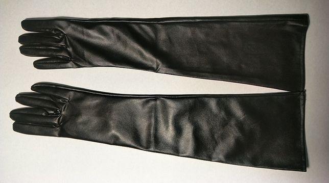 Перчатки женские длинные без подкладки