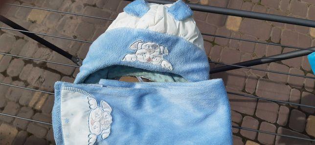 Шапка шарф детское зимние