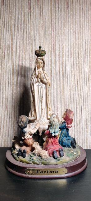 Estatueta Fátima em marfinite-Louças Falcão;18cm;Com toques