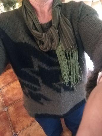 Sweter solar L, pasek diverse nowy gratis