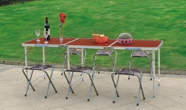 МДФ - Столешница, (+ 6 стульев) | Мебель / стол - складной / 9303