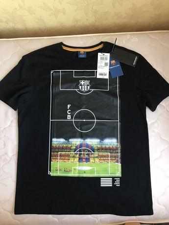 Оригинальная Мужская футболка , Jack vs Jones, FC BARCELONA, черная