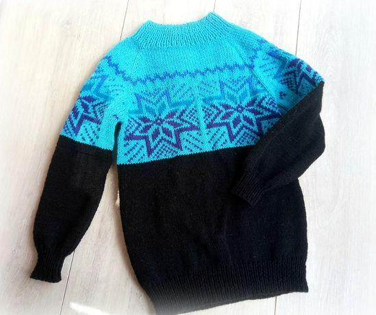 Вязанный свитер с узором 8-11 лет