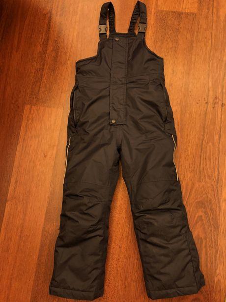 Ocieplane nieprzemakalne spodnie narciarskie 98/104zimowe