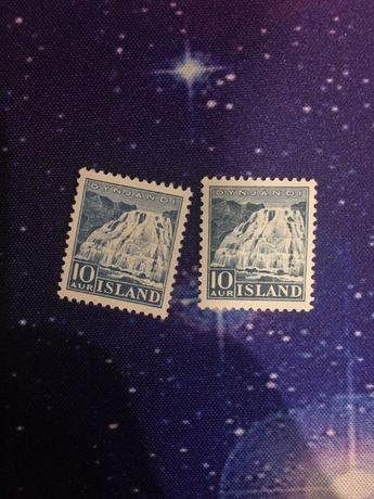 Почтовая марка Исландия 1935 год, 10 AUR