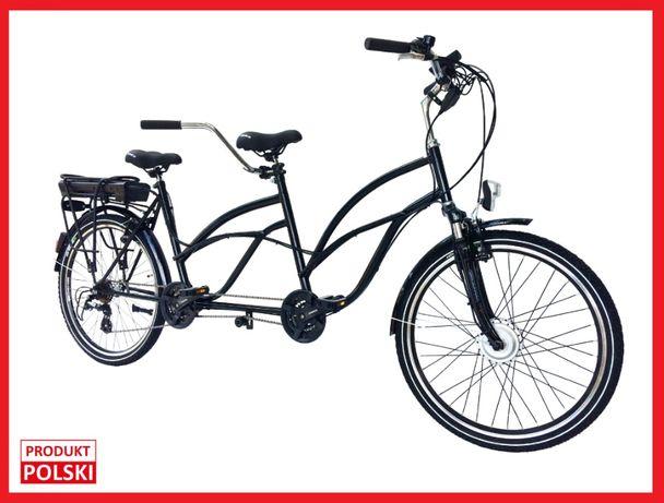 Rower tandem 26' PREMIUM Elektryczny 250 W z silnikiem NOWY,