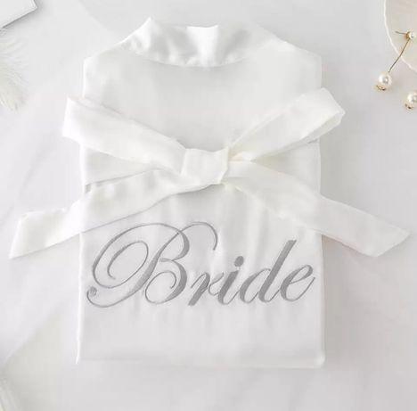 Szlafrok dla Panny Młodej 38 M Bride wieczór panieński ślub prezent