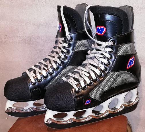 Łyżwy hokeje K2 roz 40 wkładka 25,5 Ostrza t-blade. Stan bdb Jak nowe.