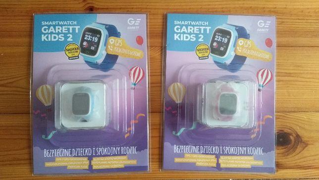 Smartwatch Garett Kids 2 Niebieski/Róż GPS Rozmowy Bezpieczne dziecko