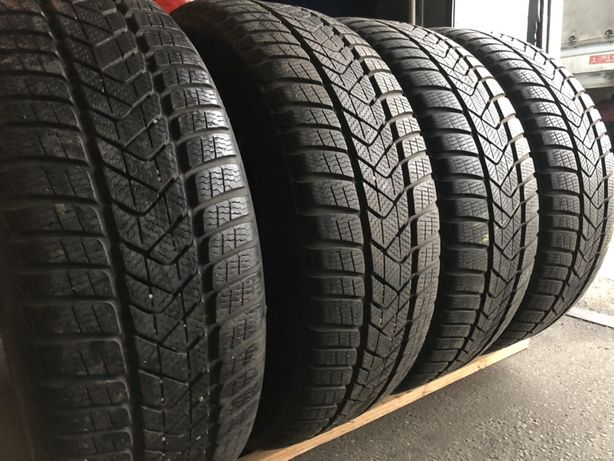 R17 225/55 Pirelli Continental резина бу зима шины комплекты свежие