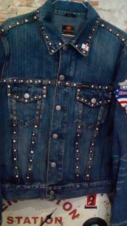 Байкерская джинсовая куртка ENERGIE с заклёпками