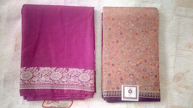 Саре ткань натуральный шёлк Индия оригинал
