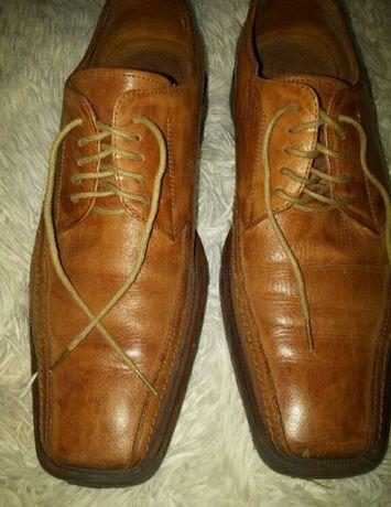 Pantofle skórzane męskie r.39 ALBERTO