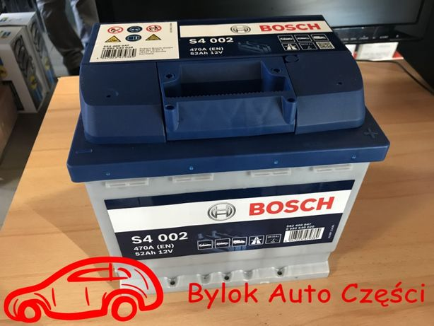 """AKUMULATOR 52AH/470A """"Bosch"""" NOWY!!! Bylok Auto Części Gliwice Zabrze"""