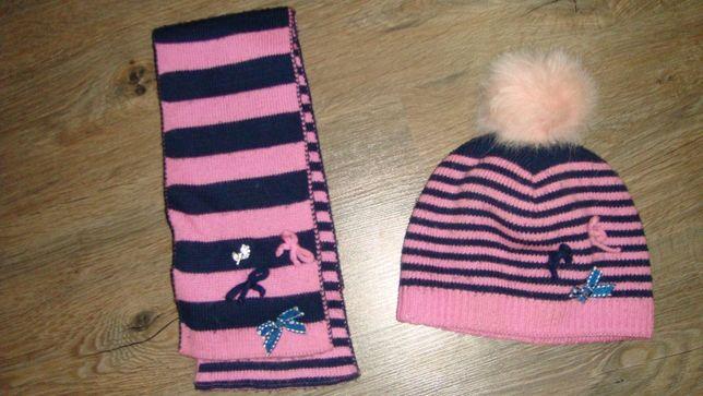 шапка шарф комплект шапочка термоушки зима