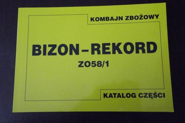 Katalog części zamiennych do kombajnu zbożowego BIZON Rekord/Super