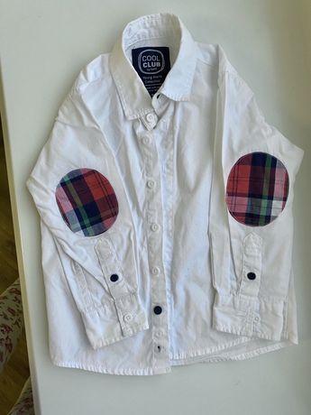 Рубашка белая на мальчика 92 размера как новая